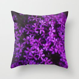 Flowers in Purple, Ultra Violet Throw Pillow
