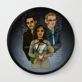 The Vampire, The Ghost and The Werewolf Wall Clock