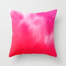 Watercolor Pink Throw Pillow