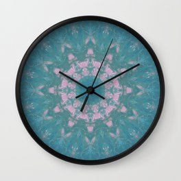 Navajo Turquoise Gemstone Mandala No. 40 Wall Clock