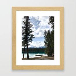 Calm Rocky Mountain Lake Framed Art Print
