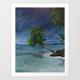 Flowing Palms Art Print