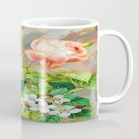 vintage floral Mugs featuring Vintage Floral  by Colorful Art