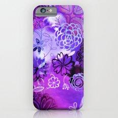 Urban Purple Watercolor Flowers Slim Case iPhone 6s