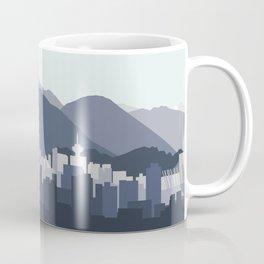 Vancouver Skyline in Blues Coffee Mug