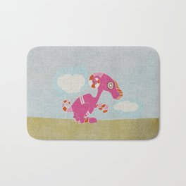 Kangaroo Go-Go Pink Bath Mat