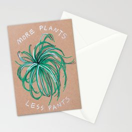 More Plants Less Pants Stationery Cards
