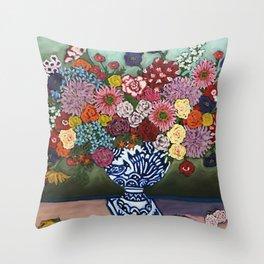 Amsterdam Flowers Throw Pillow
