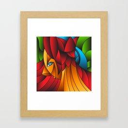 The Queen Cubism Art Framed Art Print