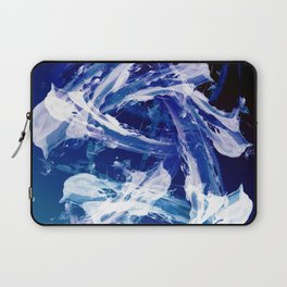 Snowy Abstract Painting Laptop Sleeve