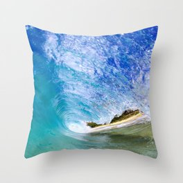 Ocean Barrel Throw Pillow