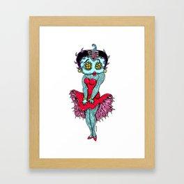 Monster Boop Framed Art Print