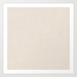 Chardon Quarter Spanish White Art Print