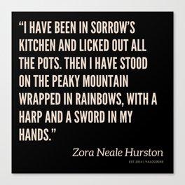 50  |Zora Neale Hurston Quotes 200823 Black Motivational Writer Book Inspirational Female Literature Canvas Print