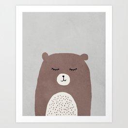 Bear - Mid century modern kids art - Children's art - Kids decor - Nursery room Art Print
