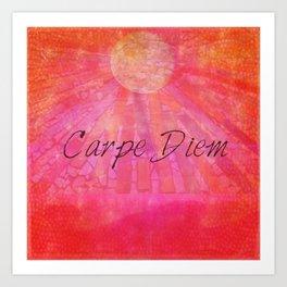 Carpe Diem quote Art Print