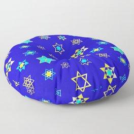 Hanukkah Holidays Celebration of Miracles Pattern Floor Pillow