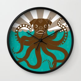 Octopug Wall Clock