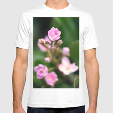 Tiny Pink White Mens Fitted Tee MEDIUM