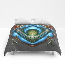 Summer Totem Blue Comforters