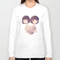 sisters Long Sleeve T-shirts featuring Sisters by Nan Lawson