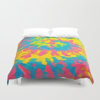 tie dye Duvet Covers featuring Tie Dye by Jillian Stanton