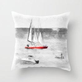 Barbados Sea Art Throw Pillow