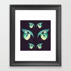 Demons's eyes Framed Art Print