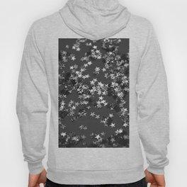 Gray Black Night Glitter Stars #1 #shiny #decor #art #society6 Hoody