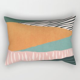 Modern irregular Stripes 02 Rectangular Pillow