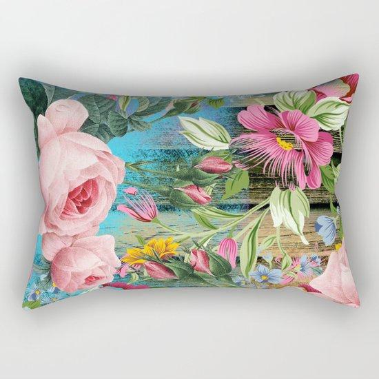 Vintage Flowers #9 Rectangular Pillow