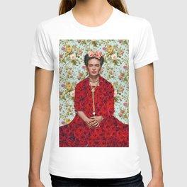 Flowers Frida Kahlo VIII T-shirt