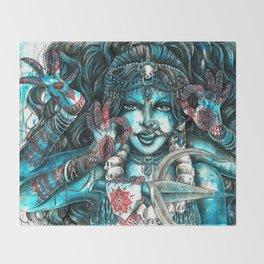 Goddess Kali Throw Blanket