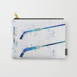 Blue Hockey Stick Art Patent - Sharon Cummings Carry-All Pouch