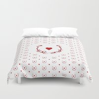 poker Duvet Covers featuring POKER HEART  by Noly Riv Mir