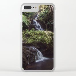 Jungle Waterfall Clear iPhone Case