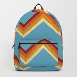 Surfing Summer Retro Stripes Pattern Latis Backpack