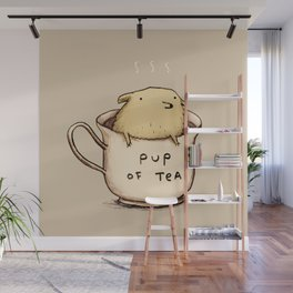 Pup of Tea Wall Mural