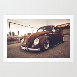 OLD TUNED CAR Art Print