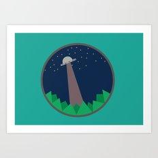 Alien's UFO Art Print