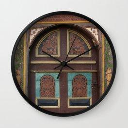 Door From Olden Times Wall Clock