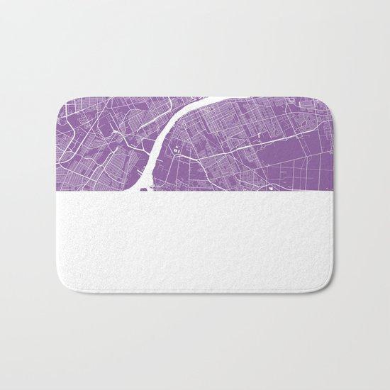 Detroit map lilac Bath Mat