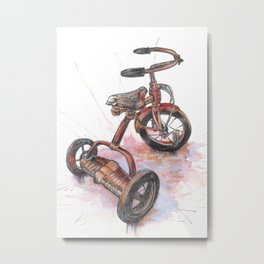 Puddle Stompin Tricycle Metal Print