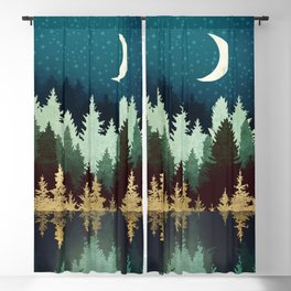 Star Forest Reflection Blackout Curtain