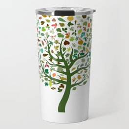 Autumn Leaves - Tree Hugger Design Travel Mug
