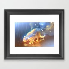 Flame Bound Framed Art Print