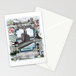 USS Pasadena - Pearl Harbor Submarine Service (silver dolphins) Stationery Cards
