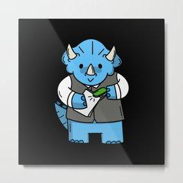 Children's Dinosaur Motif Gift Idea Design Motif Metal Print