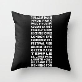 London Bus Roll Throw Pillow