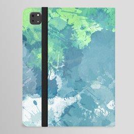 Watercolor Splash Abstract iPad Folio Case